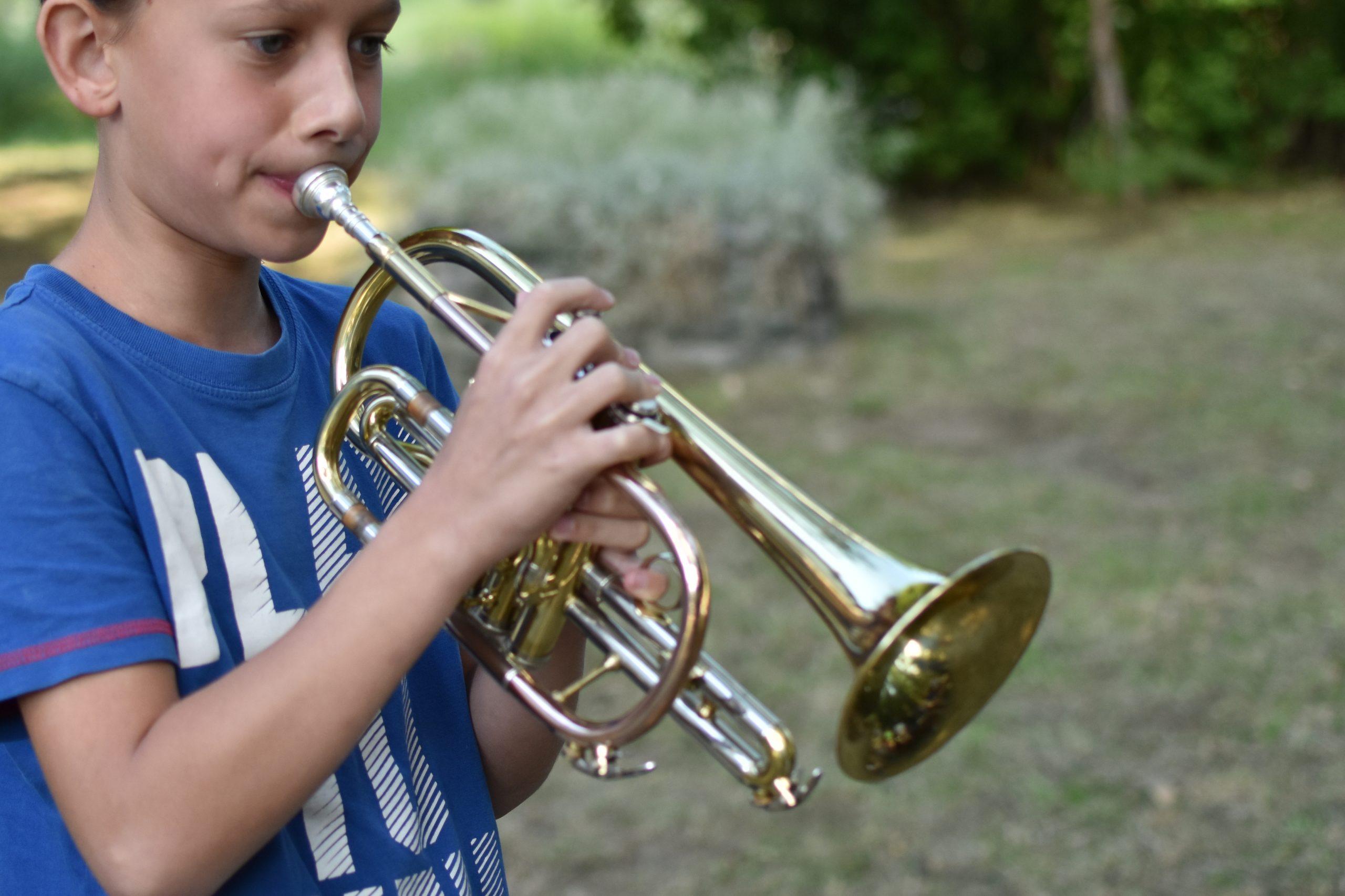 trompette jouer stage musique plaisir vacances